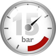 15 bares de presión