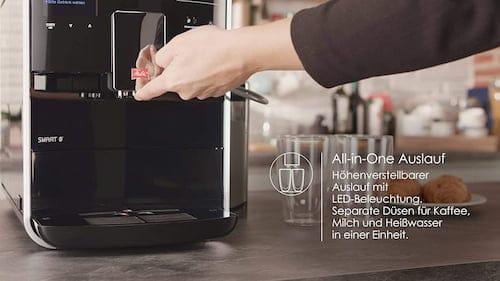 vaciado automático de restos de café molido
